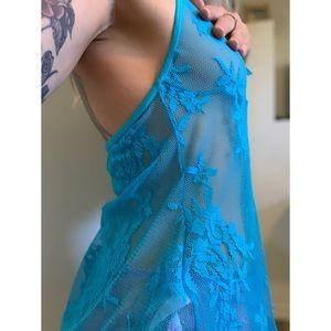 Small, Fantasy Lingerie, bright blue lingerie top